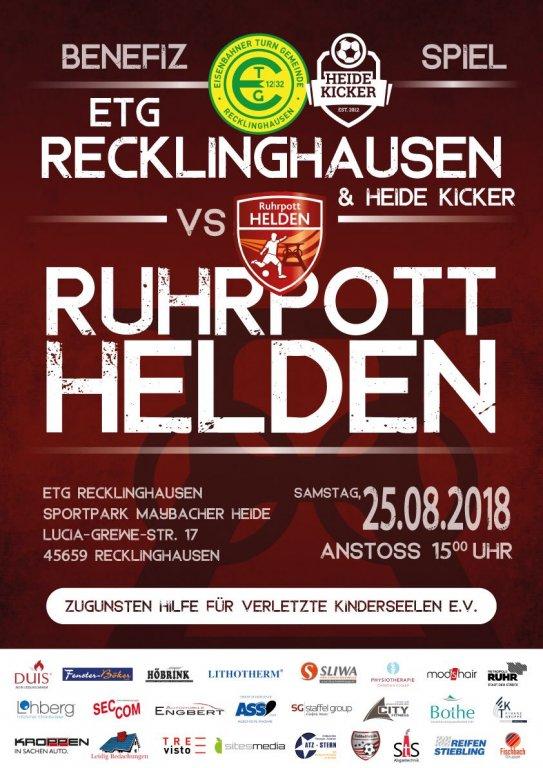 Benefizspiel Ruhrpotthelden vs. Hillerheide •Recklinghausen @ 45659 Recklinghausen | FC/JS Hillerheide e.V. | Recklinghausen | Nordrhein-Westfalen | Deutschland