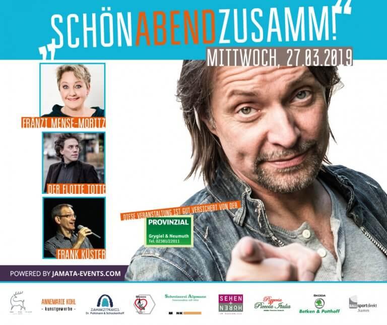 SchönAbendZusamm! • Fränzi Mense-Moritz | Frank Küster | Der Flotte Totte @ 59069 Hamm | Konrad-Adenauer-Realschule